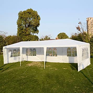 Amazon.com  Goplus Outdoor 10u0027 X 30u0027 Canopy Party Wedding Tent Heavy Duty Gazebo Pavilion Cater Events 5 Removable Window Side Walls (White)  Garden u0026 ... & Amazon.com : Goplus Outdoor 10u0027 X 30u0027 Canopy Party Wedding Tent ...