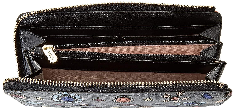 Tous Billetera Mediana Teatime, Cartera para Mujer, Multicolor (Gris/Negro), 2x10x19.5 cm (W x H x L): Amazon.es: Zapatos y complementos