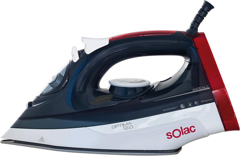 Solac PV2013 Optima 2.0 Plancha de vapor, 2400 W, 0.38 litros, Multicolor