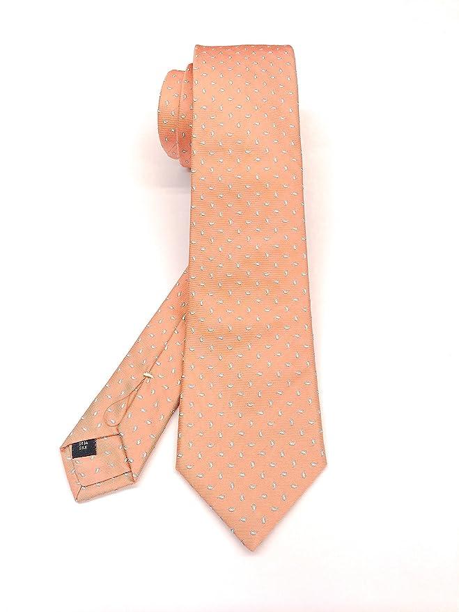 Real Luxury Napoli Corbata de seda de 3 pliegues forrada, diseño ...