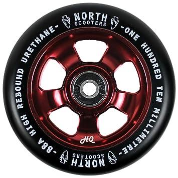 Norte Scooters HQ negro 88 A rueda de patinete de vino rojo ...