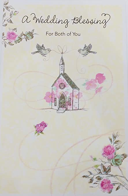 Amazon Com A Wedding Blessing For Both Of You Greeting Card For Bride And Groom Marriage Religious Office Products