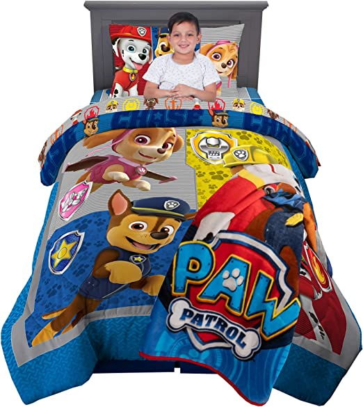 Amazon Com Nickelodeon Paw Patrol Super Soft Kids Bedding Set 5