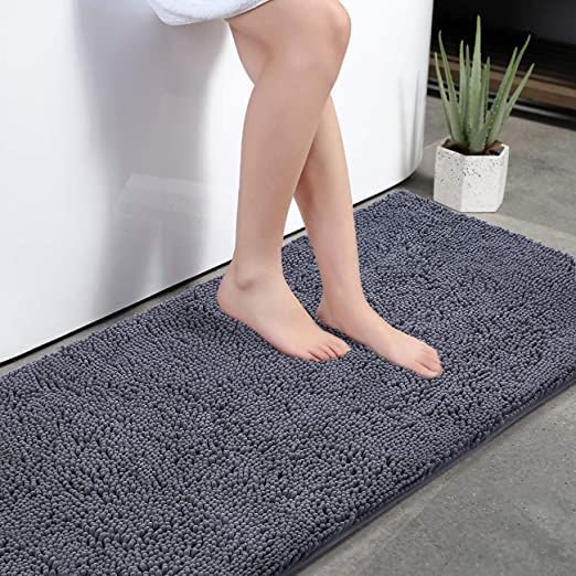 Absorbent Soft Bathroom Bedroom Floor Non-slip Mat Bath Shower Rug Plush