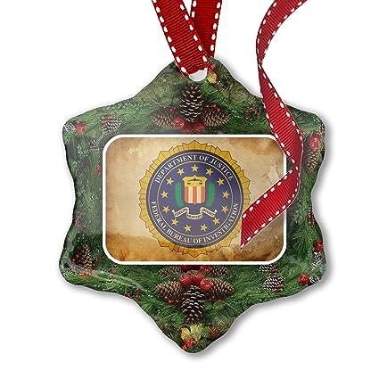 NEONBLOND Christmas Ornament FBI Federal Bureau of Investigation - Amazon.com: NEONBLOND Christmas Ornament FBI Federal Bureau Of
