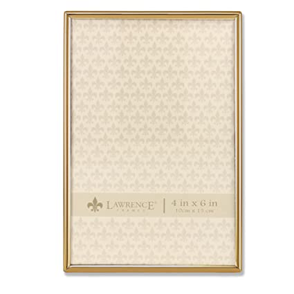 Amazon.com - Lawrence Frames 4x6 Simply Gold Metal Picture Frame -