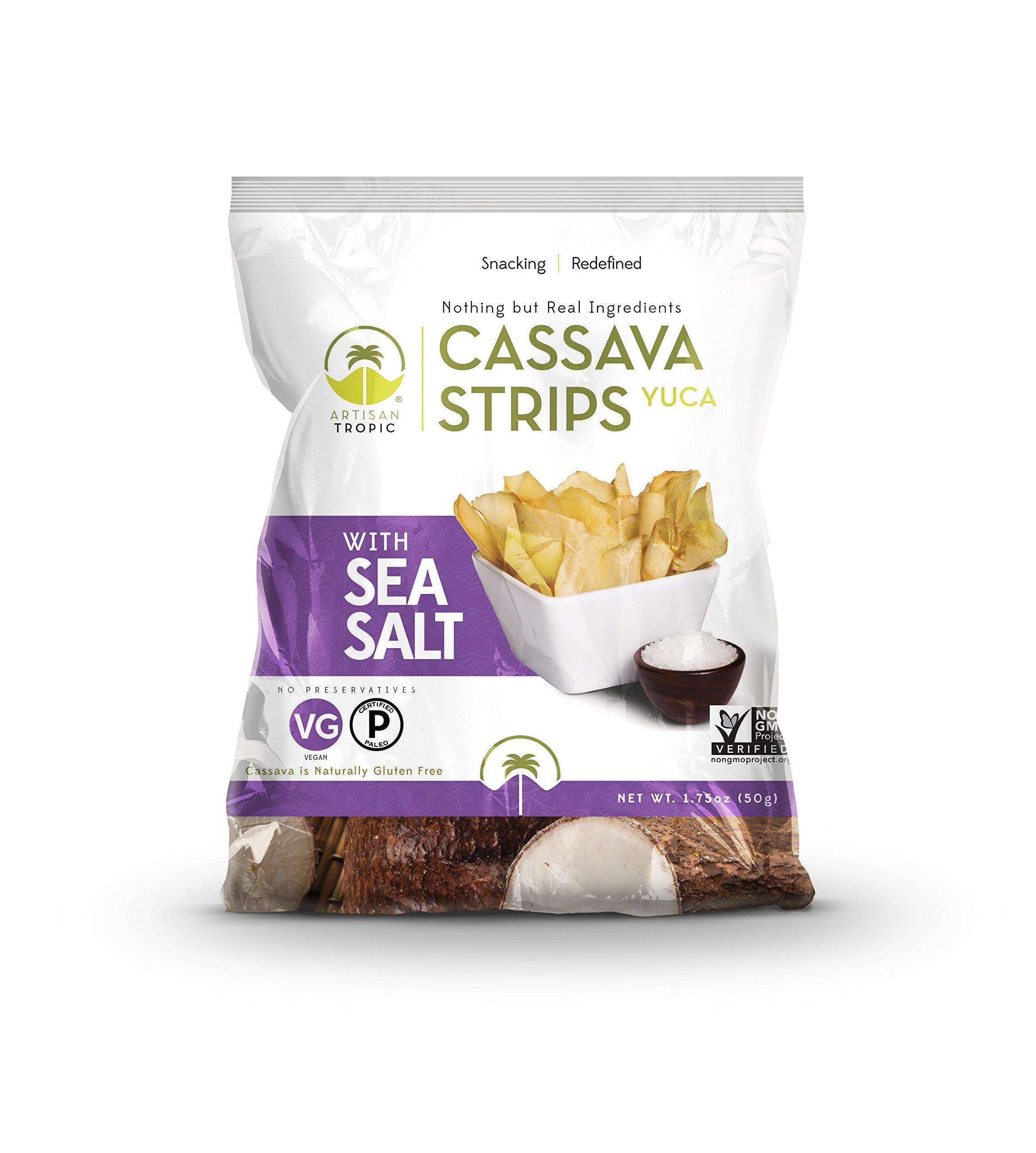 Artisan Tropic Cassava (Yuca) Strips: Sea Salt 1.75oz (16 pack)