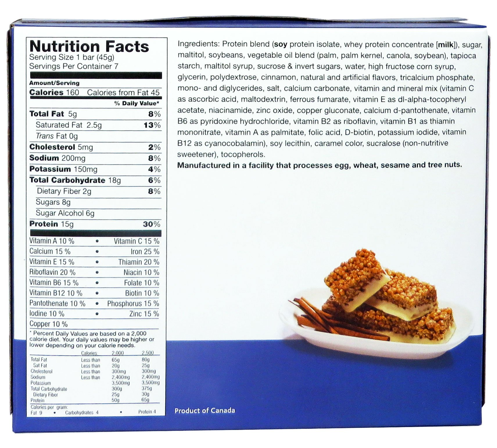 ProtiWise - Cinnamon Crunch High Protein Diet Bars by ProtiWise - By Doctors Best Weight Loss