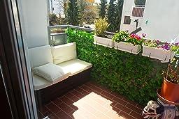 sichtschutz windschutz verkleidung f r balkon terrasse zaun blatt hell 300 x 100 cm. Black Bedroom Furniture Sets. Home Design Ideas