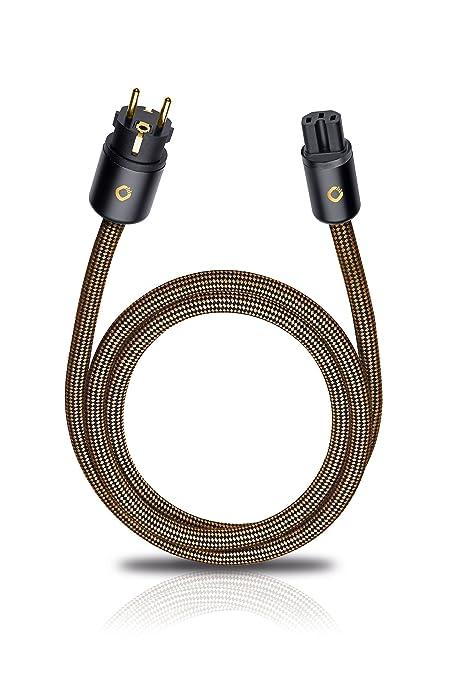 Oehlbach XXL - Cable de alimentación de 500 cm, Marrón Sepia ...