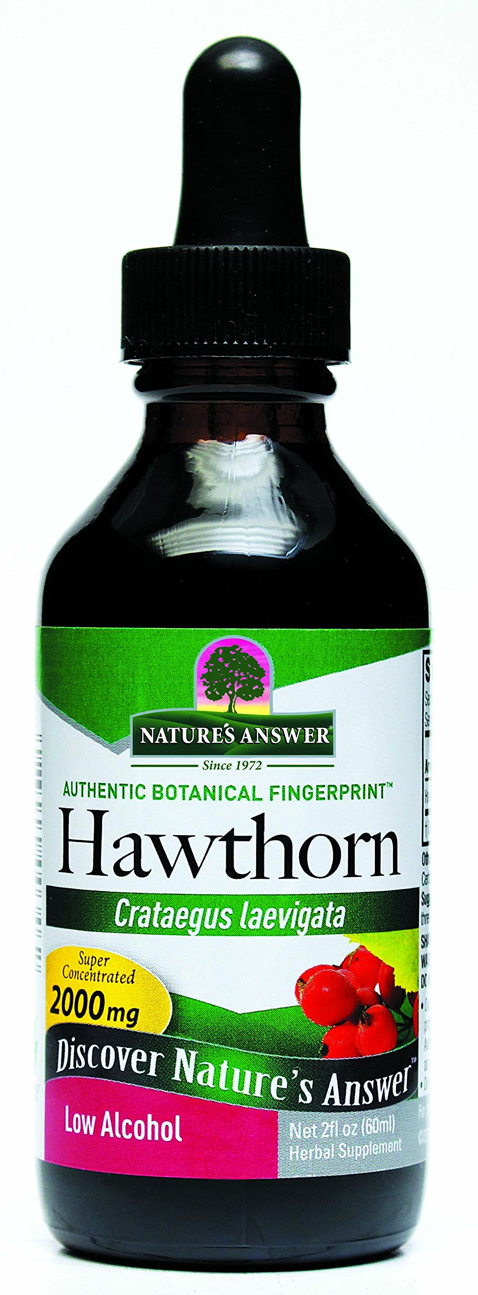 Nature's Answer Hawthorne Extract with Organic Alcohol, 2-Fluid Ounces