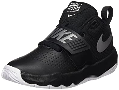 NIKE Boys Team Hustle D 8 (PS) Pre School Basketball Shoe BlackMetallic