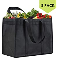 NZ Home Zero Waste Reusable Produce Bags   Drawstring   Multiple Sizes in White   Extra Strong, Washable, See Through with Tare Weight Labels   Set of 5
