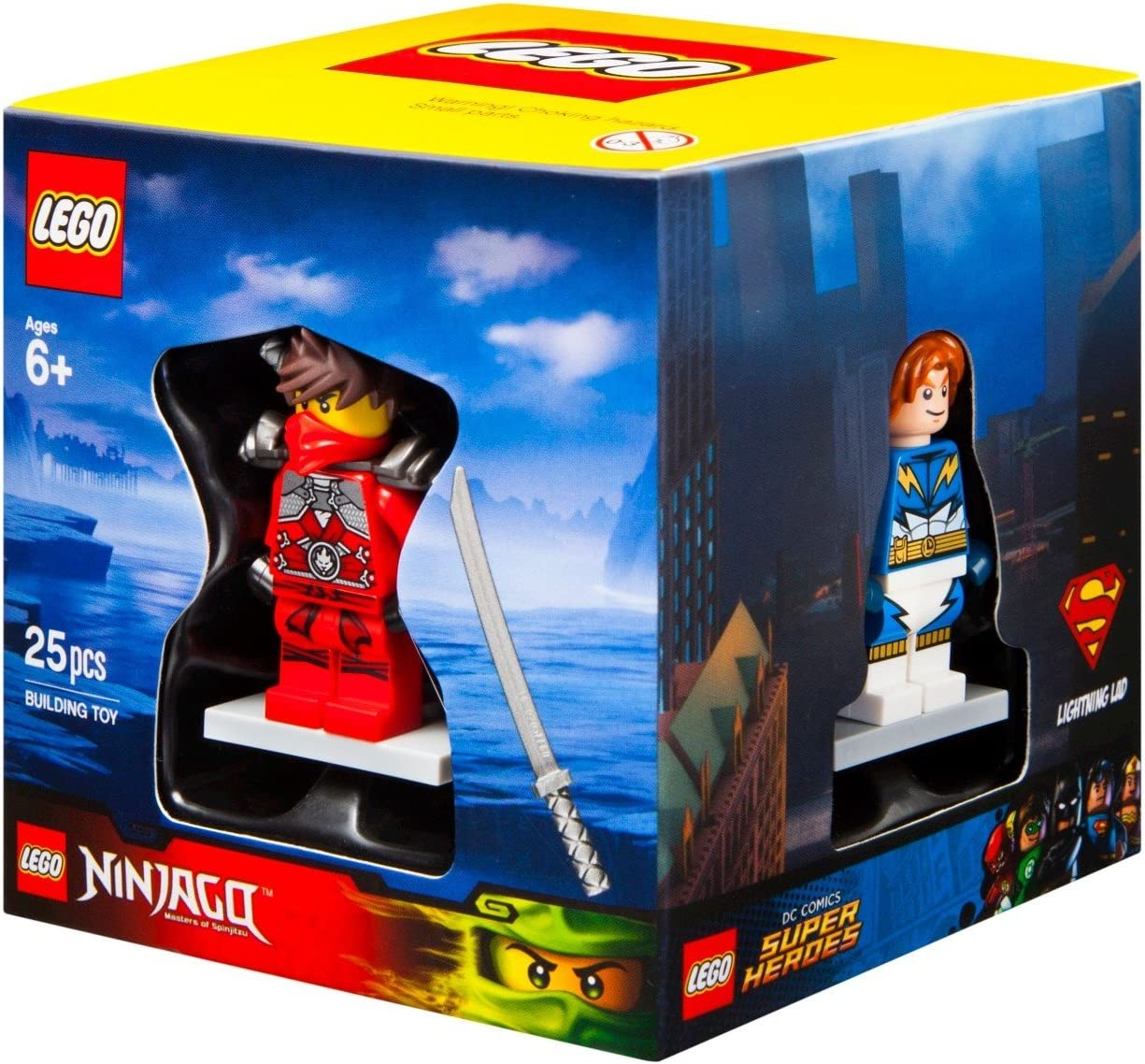 LEGO 4 Minifigures Boxed Giftset Cube 2015 Superheroes Chima Ninjago and City Themes