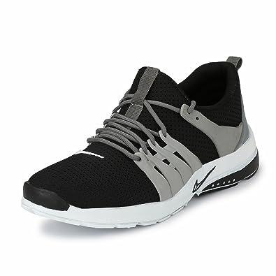 da3a0ea6733463 FUCASSO Men s Smart Fit Grey Black Sports Shoes  Buy Online at Low ...
