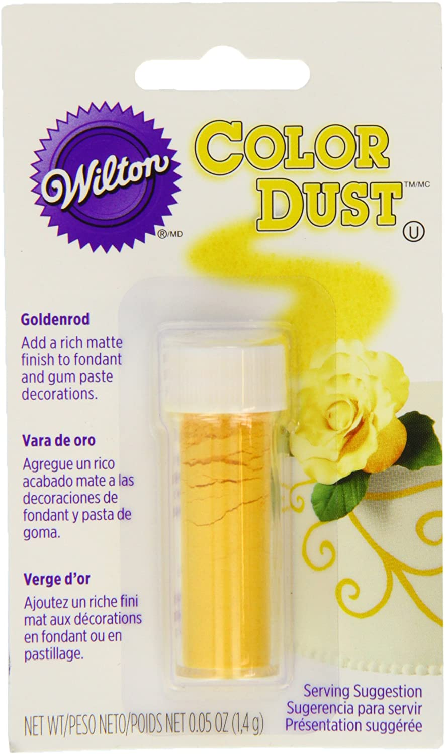 Wilton Goldenrod Color Dust, Yellow