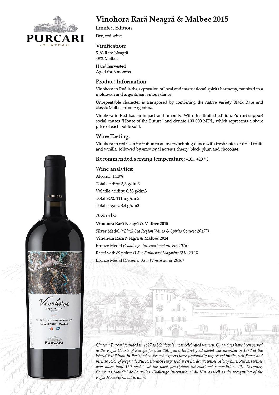 Purcari Vinohora Red (Rara Neagra & Malbec) limited edition
