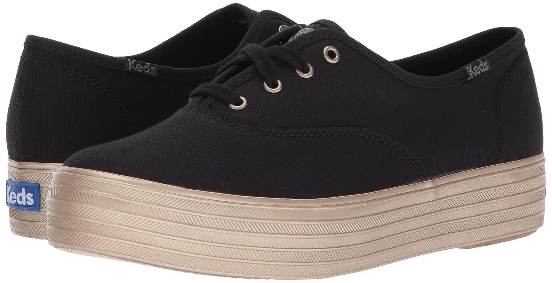 Keds Women's B06Y4Y8LGD Triple Shimmer Fashion Sneaker B06Y4Y8LGD Women's 11 B(M) US|Black/Champagne 5a7809