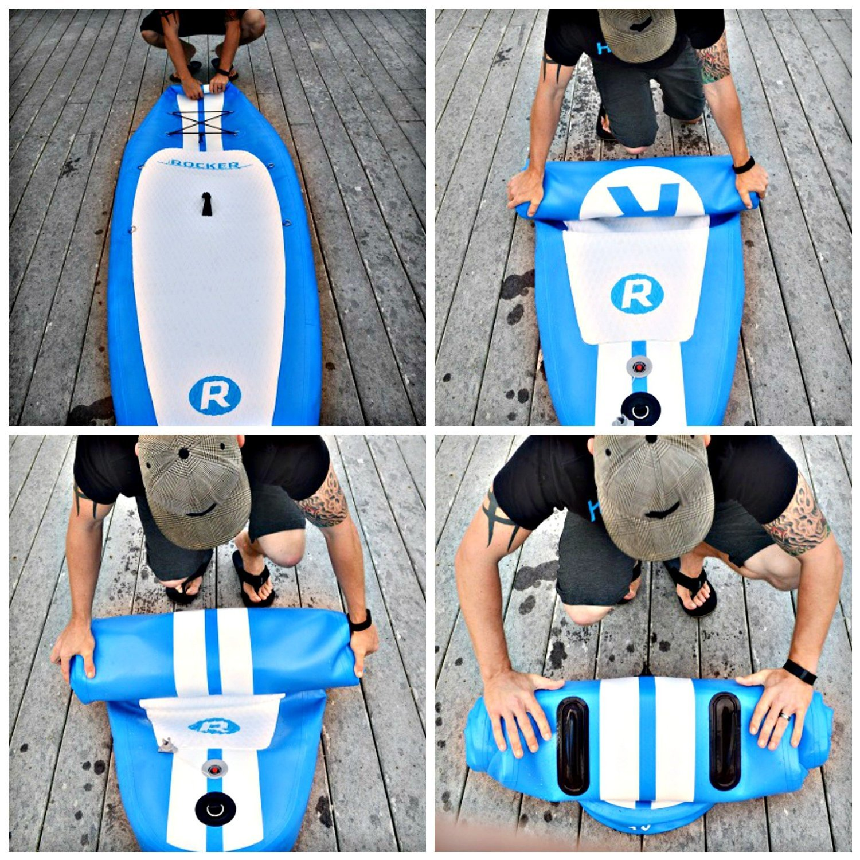 iROCKER Tabla Hinchable de Paddle Surf, 305x76x15cm Conjunto Sup ...