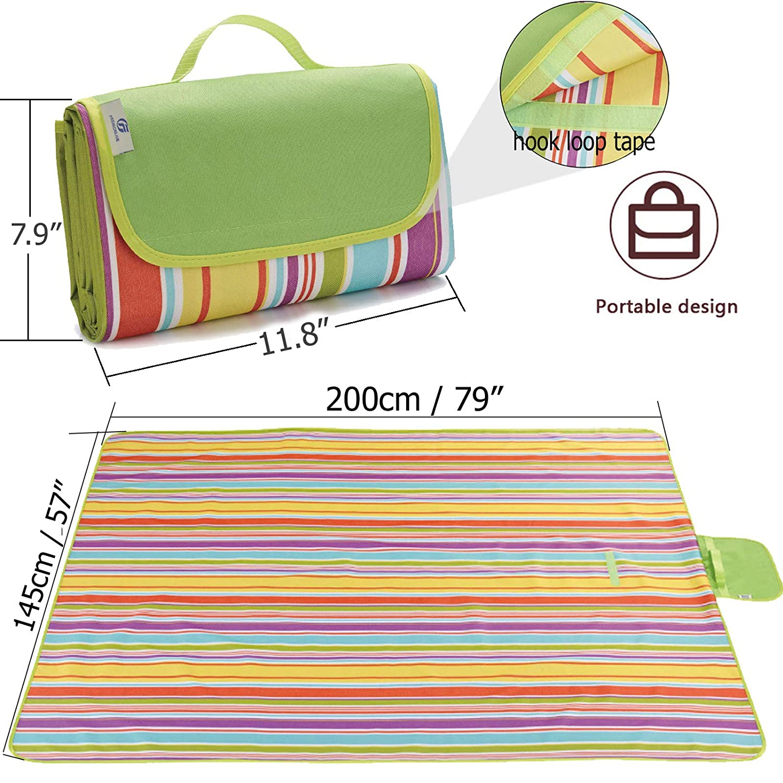 Amazon.com: Fashionlive - Manta de picnic para playa, extra ...