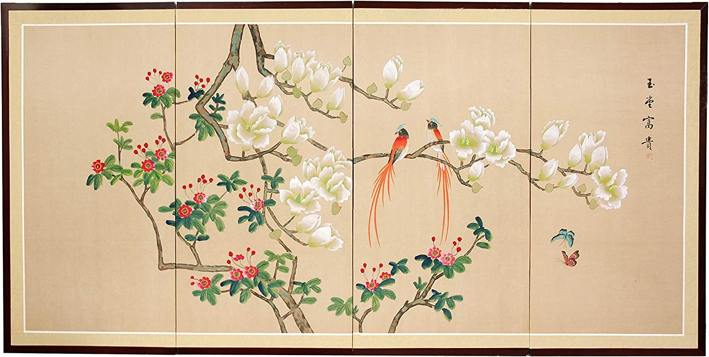 "Oriental Furniture Love Birds - 36"""