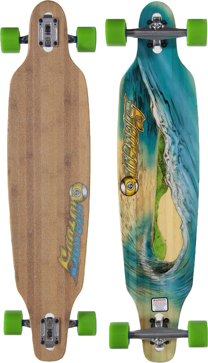 Sector 9 Blue Wave Lookout dropthrough Complete Longboard Skateboard, 9.6-Inch x 42.0-Inch by Sector 9