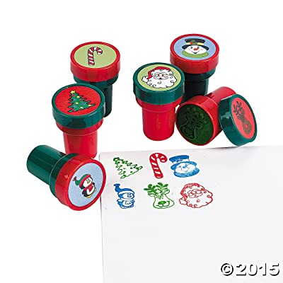 HOLIDAY STAMPS (2DZ) - Stationery - 24 Pieces: Toys & Games