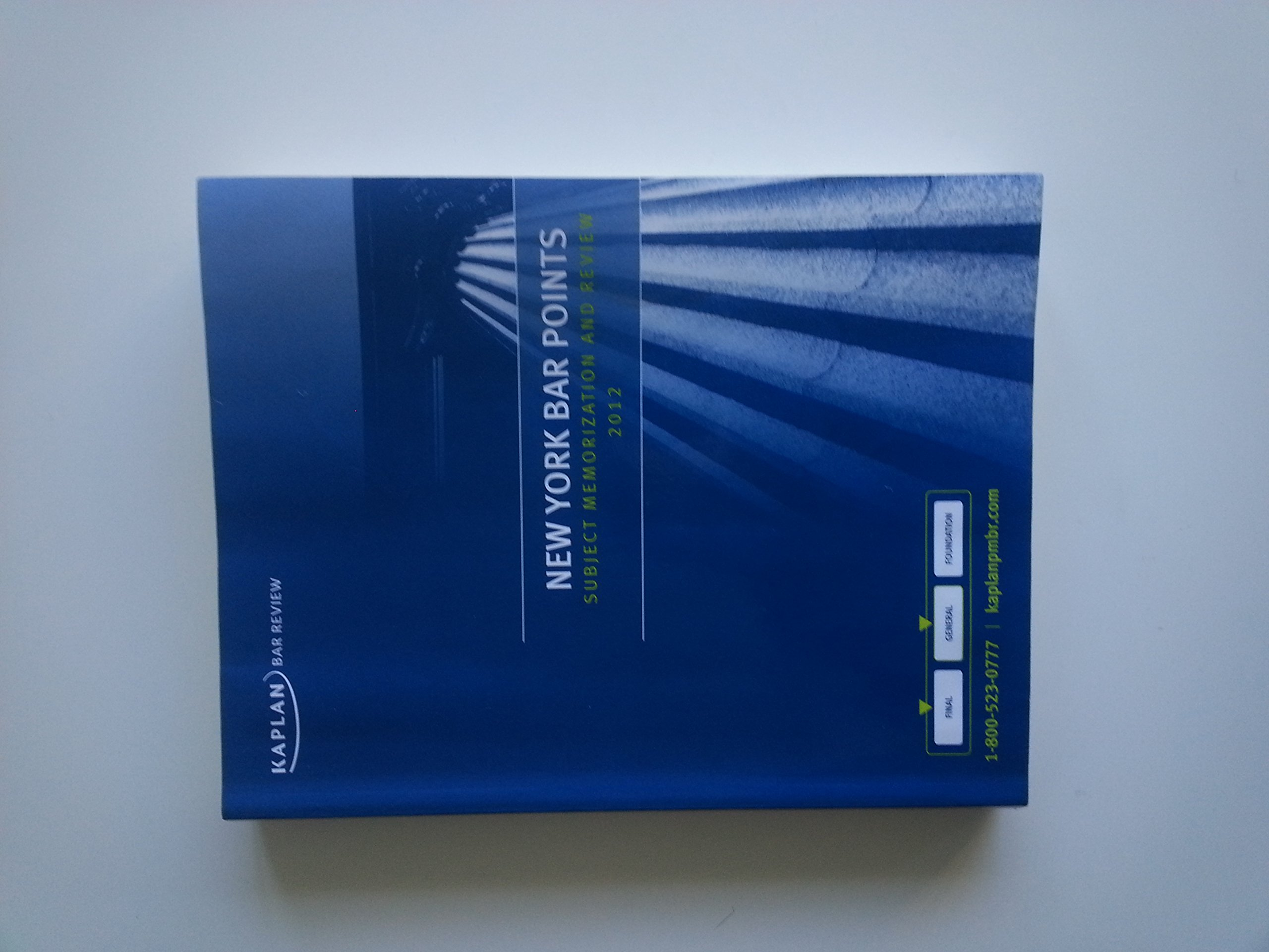 New York Bar Points, Subject Memorization and Review 2013 (Kaplan Bar Review) pdf epub