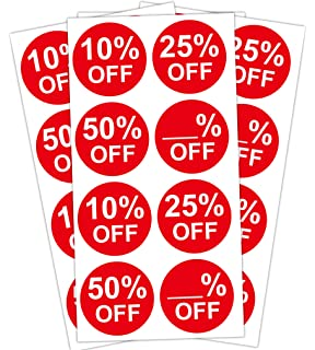 """1000 x /"""" 25/% OFF/""""/' Price Labels Self Adhesive Stickers FREE P/&P"""