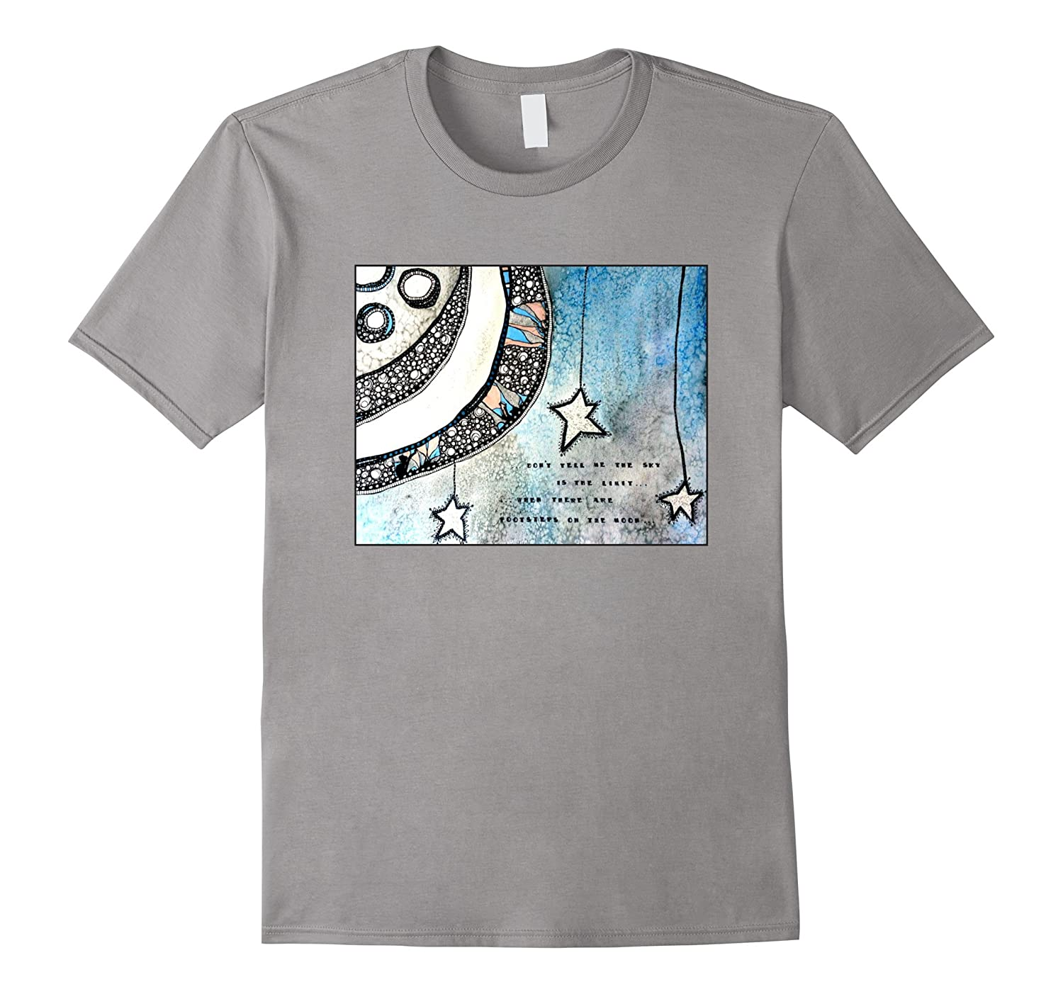 Footsteps on the Moon II space inspirational t-shirt-FL
