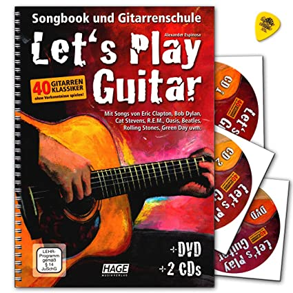 Let s Play Guitar banda 1 con 2 CD, DVD y Dunlop Púa –
