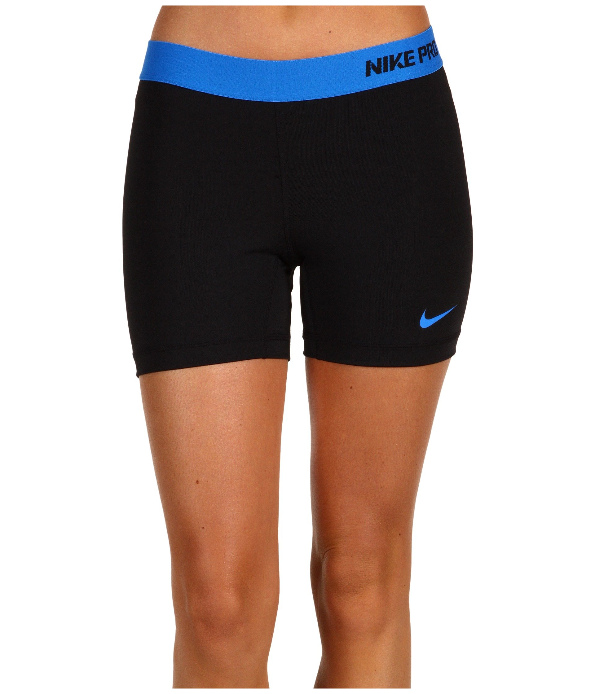 Nike Women's Victory Base Layer 5'' Training Shorts (Black/Vivid Pink/White, X-Small) by Nike (Image #1)