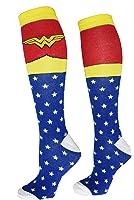 Wonder Woman Superhero Socks, Shoe Size: 4-10
