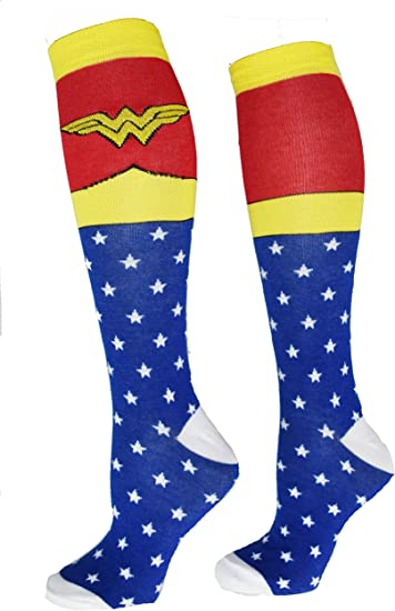 DC Comics Girls Justice League Knee High Socks 2 Pack Pink//Purple 4-10 Large
