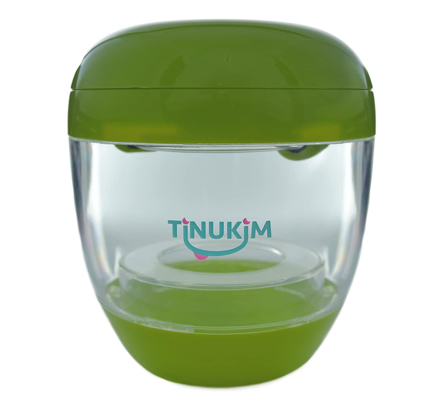 Tinukim Portable UV Sterilizer for Pacifier and Baby Bottle Nipples: Eliminates 99.9% of Bacteria and Germs (Green) TUVNSG