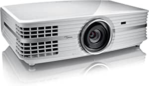 Optoma UHD65 True 4K UHD Cinema Projector for Home Theater Enthusiasts   Accurate Color with 6-Segment Color Wheel   HDR10   Puremotion Technology   Limited Edition - White Color (UHD65-W)