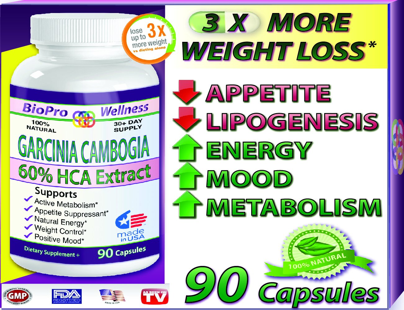 BioProWellness Weight Loss Formula, Appetite Suppressant & Thermogenic Fat Burner, Dr Recommended, 90 Caps, with Pure Garcinia Cambogia Extract, 1500 mg - 3000mg Daily, Best Appetite Suppressor to Control Your Weight by BioProWellness B00E0XQIV8