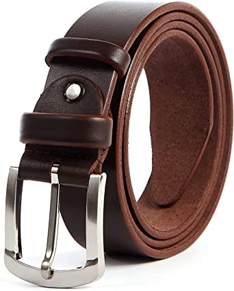 Pure Leather Mens Genuine  Top GrainLeather Belt