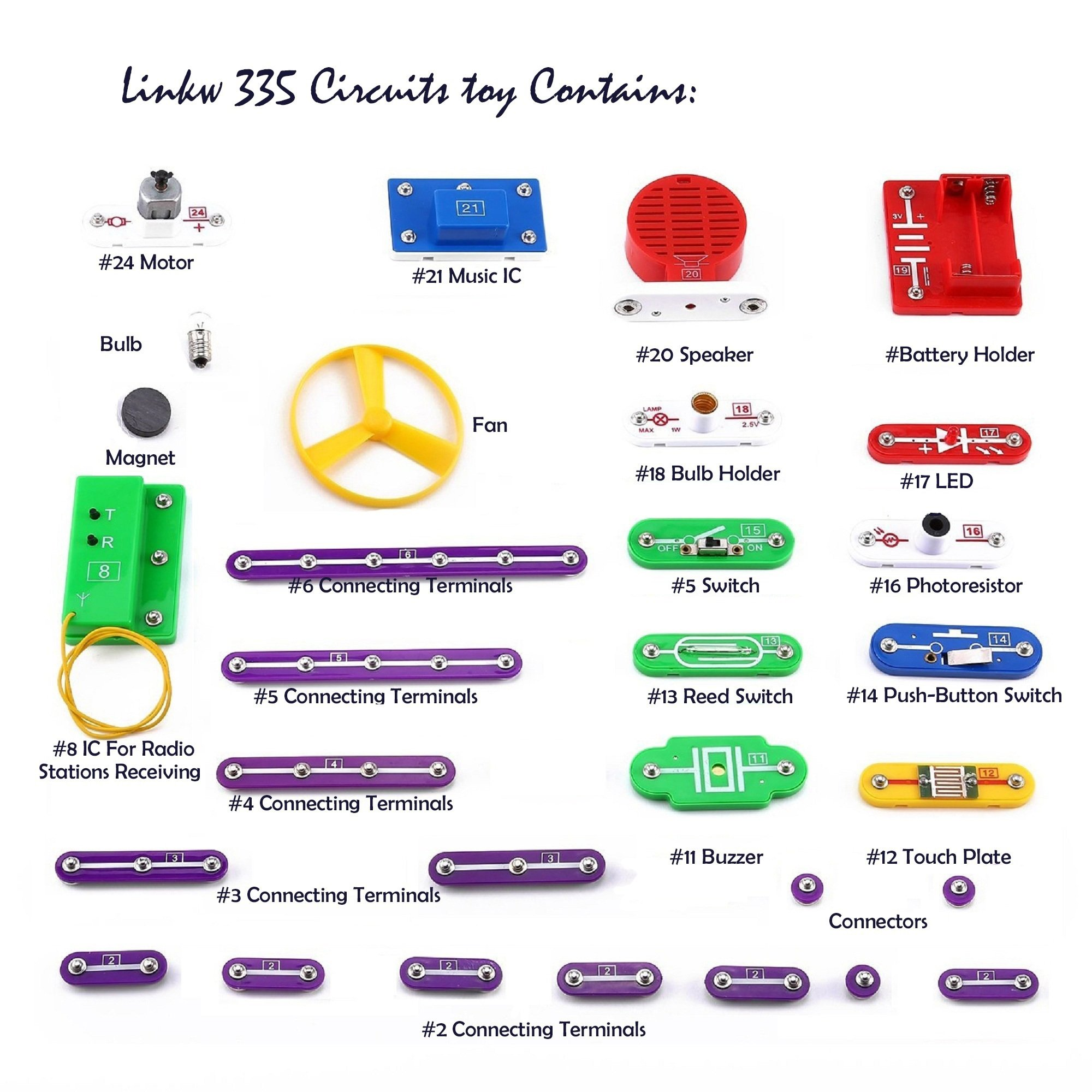Ezlin 335 Diy Circuit Experiments,Science Kits,Electronic Discovery Kit Toy For
