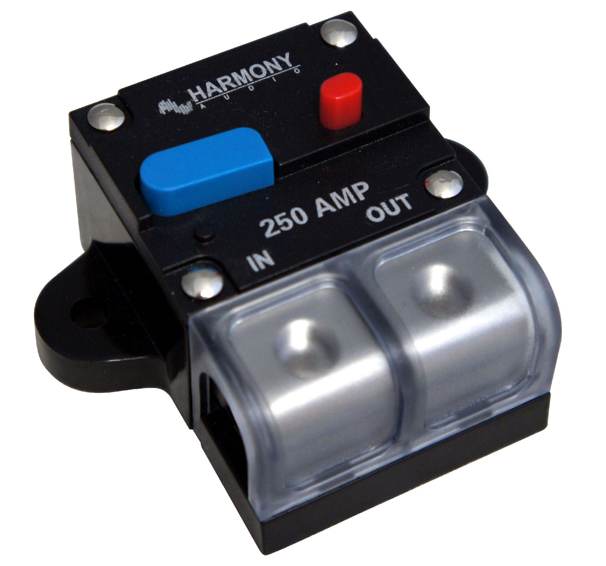 Harmony Audio HA-CB250 Car/Marine Stereo Manual Reset 250 Amp Circuit Breaker 12 Volt