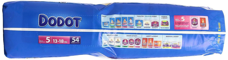 Dodot - Pañuelos para bebés, talla 5, 13-18 kg, hasta 12h seco, 54 unidades: Amazon.es: Amazon Pantry