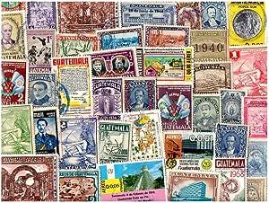 pghstamps Guatemala 25 Colección de Diferentes Sellos para ...