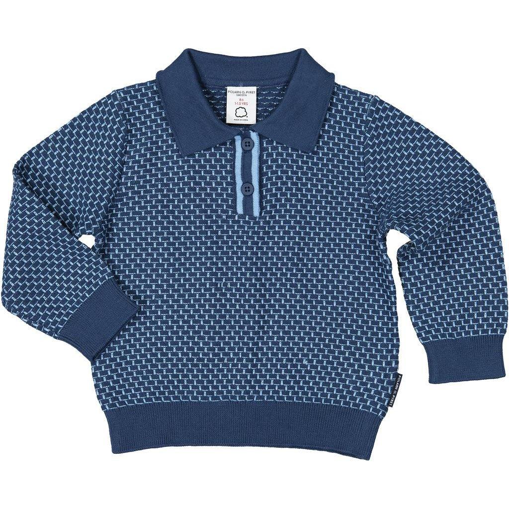 Polarn O. Pyret Textured Polo Collar Sweater (Baby)