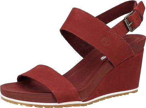 Establecer Costoso desastre  Timberland Capri Sunset Wedge Sandals Women Bordeaux: Amazon.co.uk: Shoes &  Bags