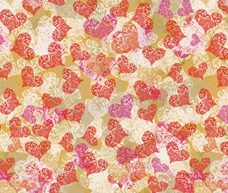 Amazon Com Valentine S Fabric Valentine Lace Hearts By