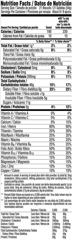 Amazon.com: Kelloggs Breakfast Cereal, Frosted Mini-Wheats, Original, Low Fat, Excellent Source of Fiber, 18 oz Box: