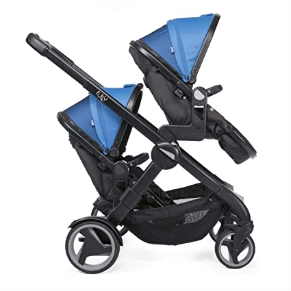 Chicco Fully Twin - Silla de paseo gemelar, color azul (power blue)