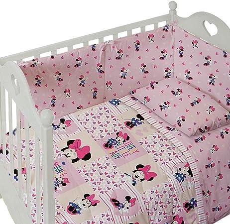 Caleffi Disney Baby Completo Lenzuola Lettino Culla MINNIE FANTASY