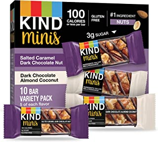 product image for KIND Minis, Salted Caramel Dark Chocolate Nut/ Dark Chocolate Almond Coconut, 0.7 Ounce (Pack of 20)