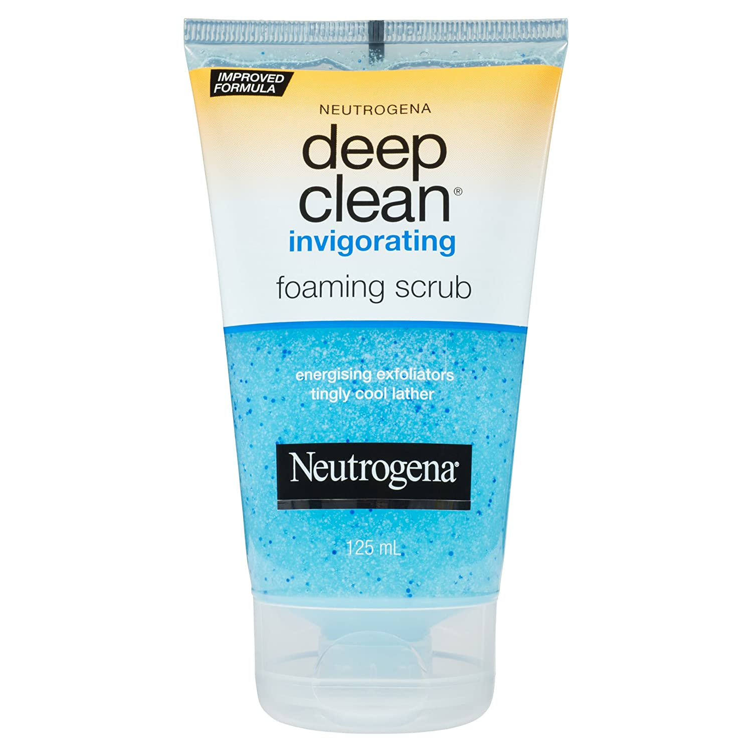 Neutrogena Deep Clean Invigorating Foaming Face Scrub with Glycerin, Cooling & Exfoliating Face Wash to Remove Dirt, Oil & Makeup, 4.2 fl. oz Neutrogena Corporation 26805086